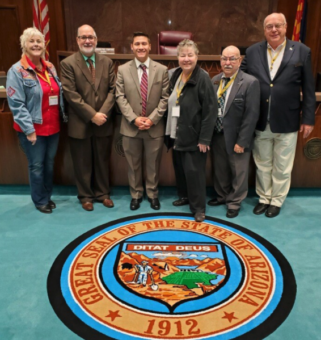 Board directors meet with state lawmakers recently at the 2020 Grand Canyon State Electric Cooperative Association legislative conference
