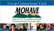 Mohave Co-op Connections Card with images of different people.