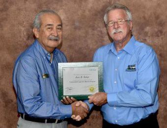 Joe Solar getting board credential certificate