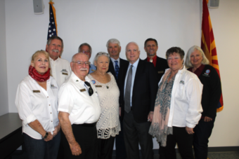 John McCain visits board members