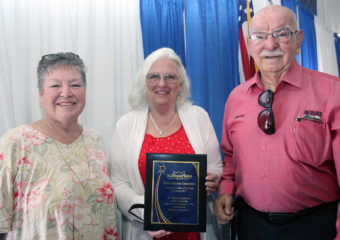 Board members receiving the 2017 Company Chamber Member of the Year