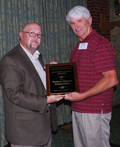Nelssen accepts safety award